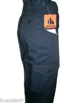 Mens Work wear Cargo combat military tough trousers pants Black &amp Navy